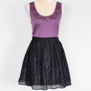 Dresses & Skirts - Purple & black Stones Embellished Cocktail Dress